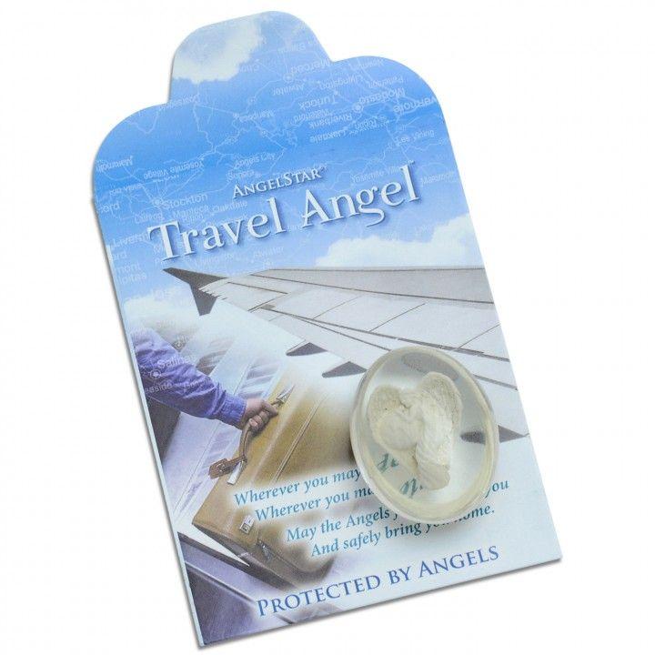 Travel Angel & paper bag - Worry Stone Pocket Angel by AngelStar (stock)