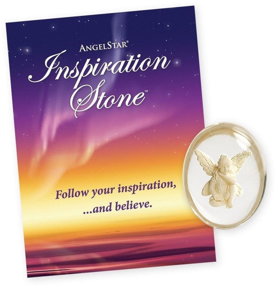 Inspiration Angel & paper bag - Worry Stone Pocket Angel by AngelStar (stoc