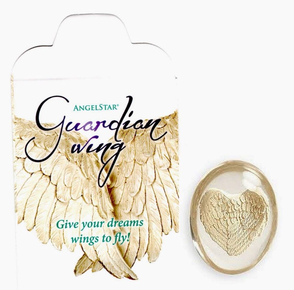 Guardian Angel Wing & bag - Worry Stone Pocket Angel by AngelStar (stock)