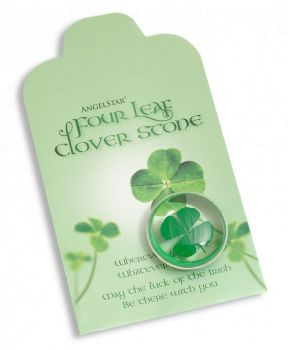 Four Leaf Clover Stone by AngelStar for Good Luck