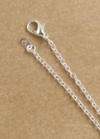 "Silver Plated Chain Necklace 16"" 40.5cm"