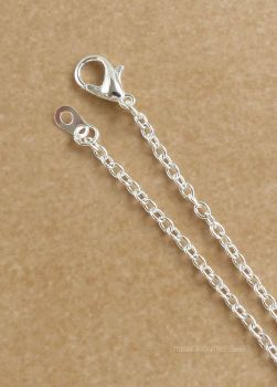 "Silver Plated Chain Necklace 18"" 45cm"