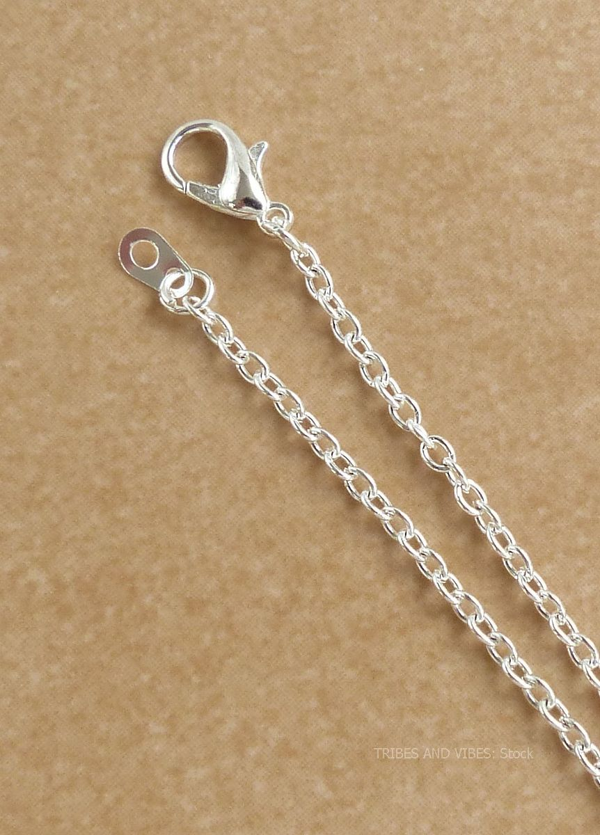 Silver Plated Chain Necklace 20 inch 51cm (stock)