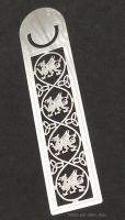 Welsh Dragon (Y Ddraig Goch) Triquetra Bookmark, 125mm