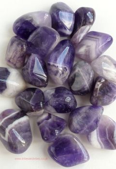 Amethyst (banded) Crystal Tumbled Stone 20-25mm