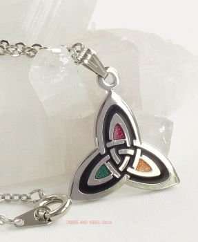 Triquetra Celtic Trinity Knot Pendant Necklace (Silver Plate) by Sea Gems