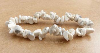 Howlite Bracelet Crystal Chips