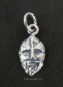 Green Man Charm Sterling Silver