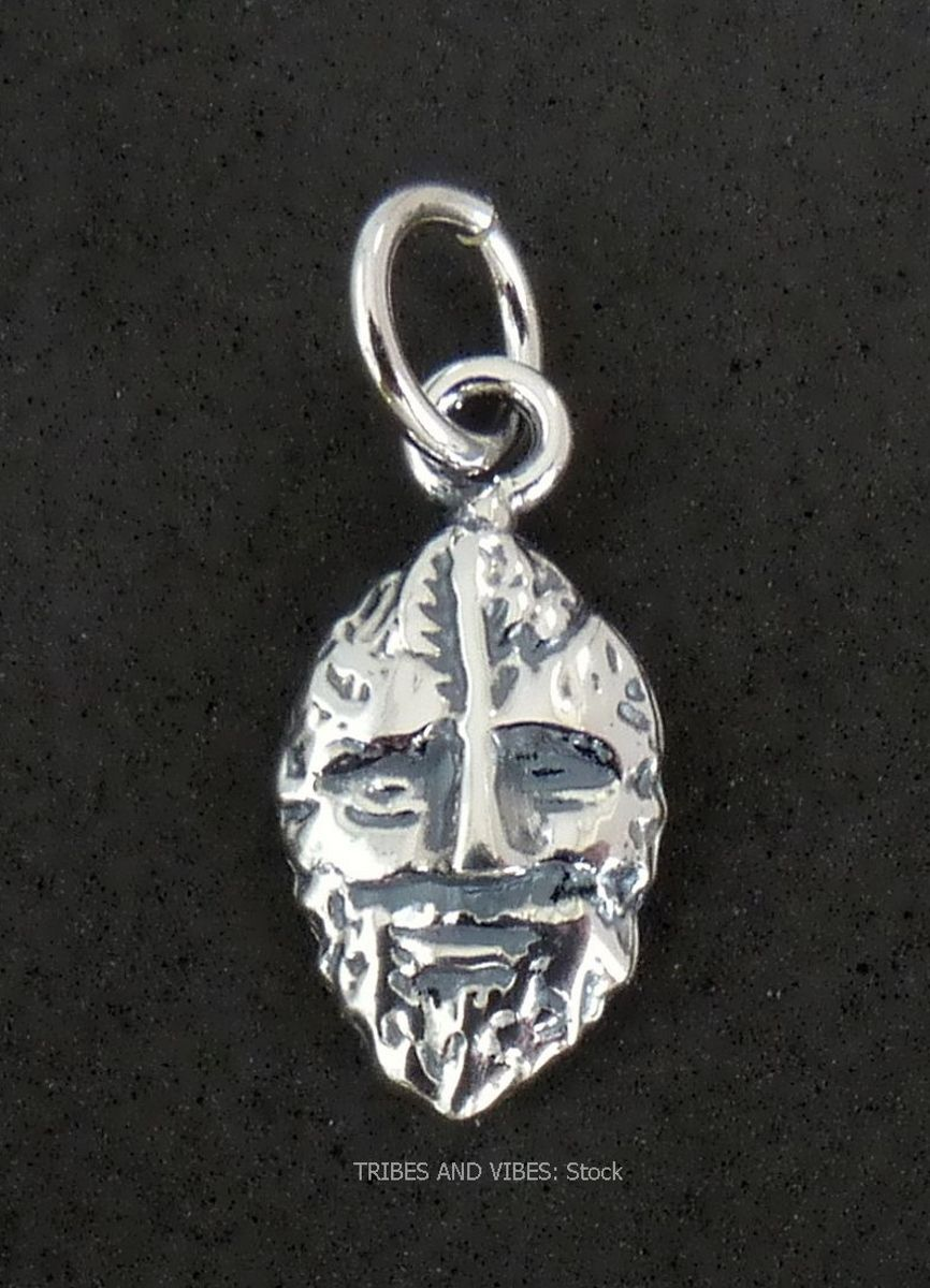 Green Man Charm Sterling Silver (stock)