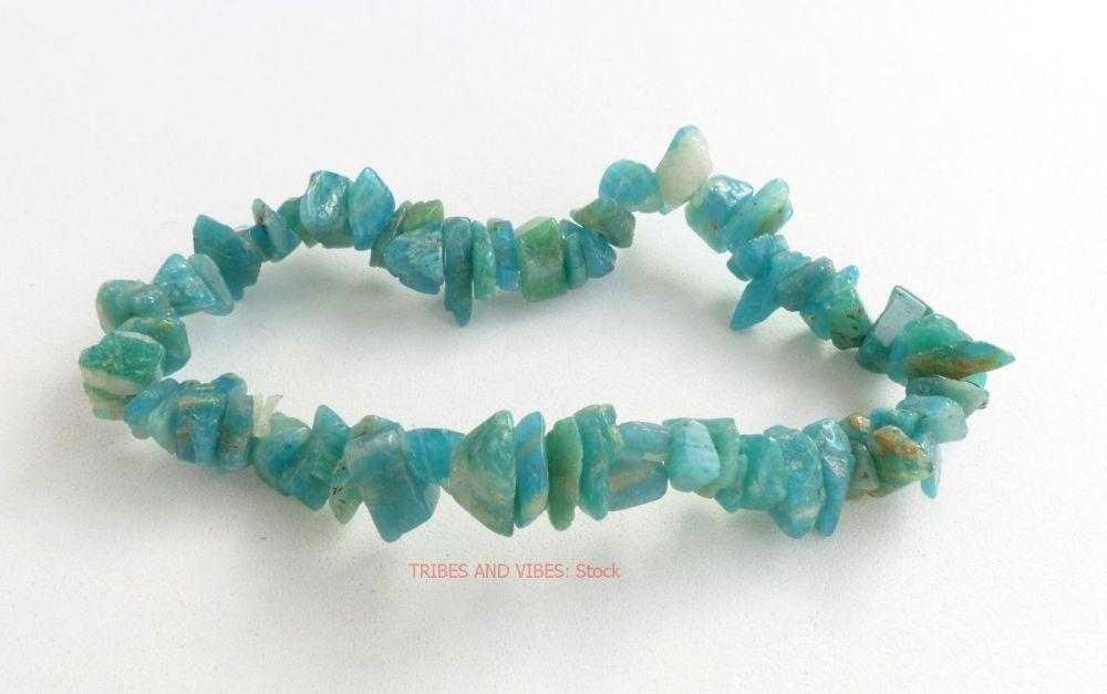 Russian Amazonite Crystal Chips Bracelet (stock)