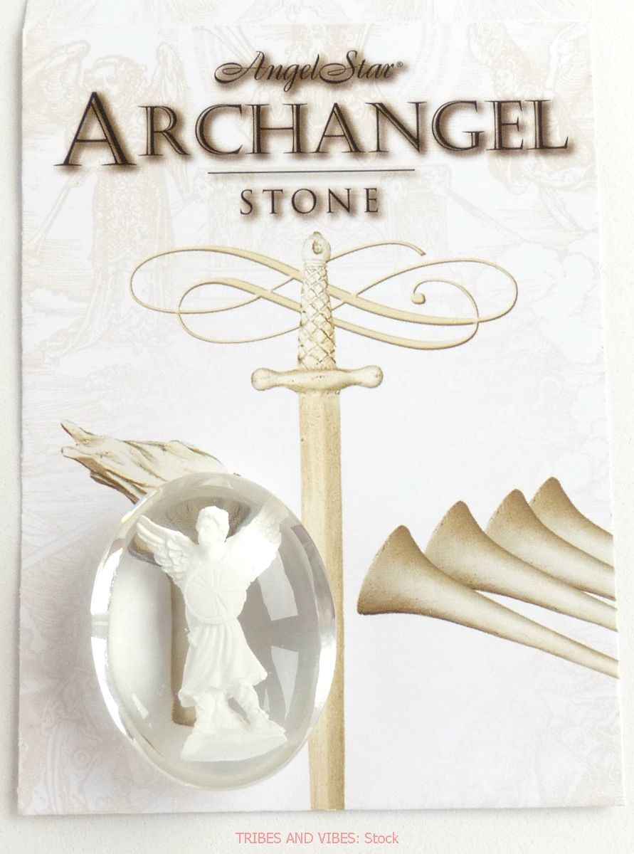 Archangel Michael Worry Stone by AngelStar (stock)