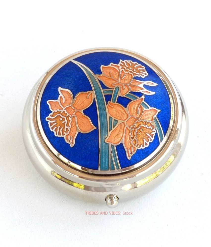 Daffodils Pill Box by Sea Gems (Stock)