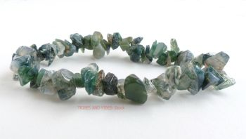 Agate (Moss Agate) Bracelet Crystal Chips
