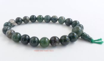 Agate (Moss Agate) Bracelet Crystal Power Beads Mala