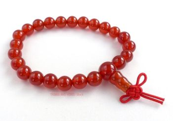 Carnelian Bracelet Crystal Power Beads Mala