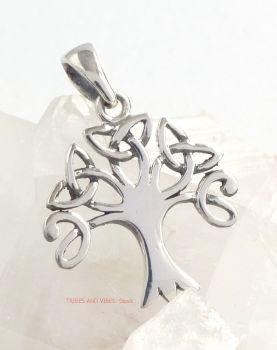 Celtic Tree Triquetra Pendant Sterling Silver