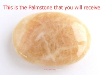 Calcite (Yellow) Crystal Palmstone 67mm x 48mm (#3)