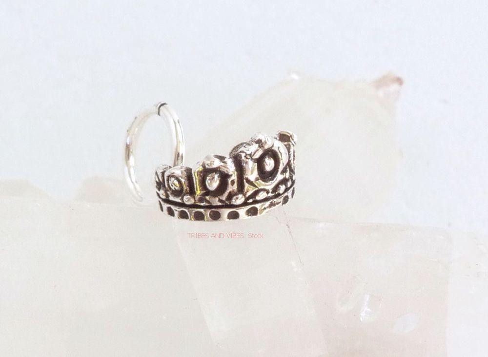 Fairy Princess Crown Tiara Charm Sterling Silver (stock)