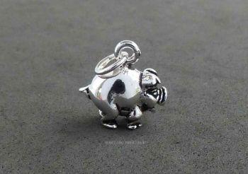 Pig Piggy Piglet Charm Sterling Silver