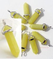 Jade Crystal Point Pendant + Choice of Necklace