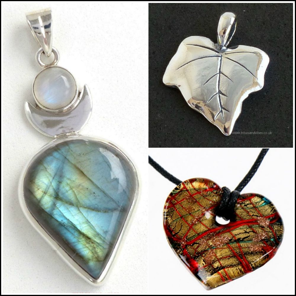 <!--08-->Crystal, Silver & Glass Pendants