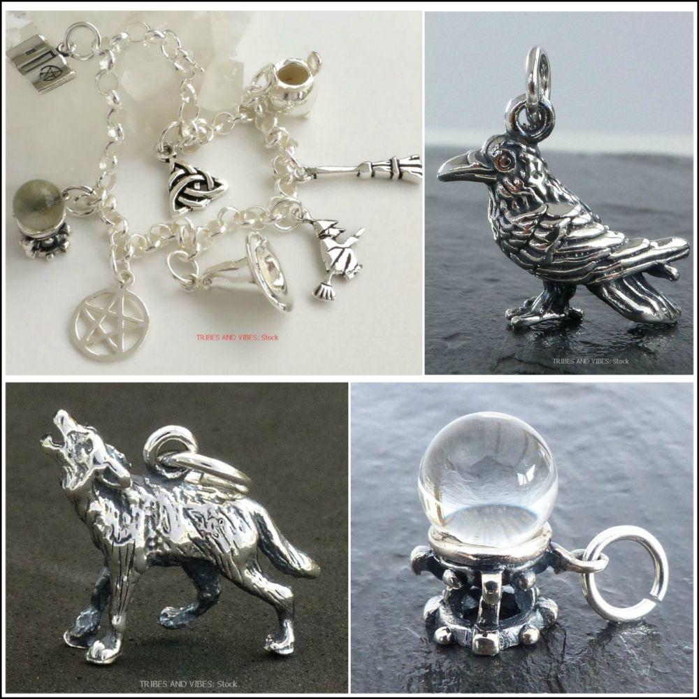 <!--11-->Charms & Charm Bracelet (Sterling Silver)