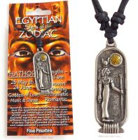 <!--006-->HATHOR Egyptian Zodiac 26 May to 24 June Necklace