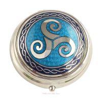 Triskele Pill Box by Sea Gems (blue)