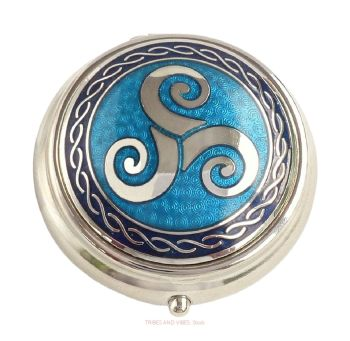 Triskele Pill Box by Sea Gems (blue)