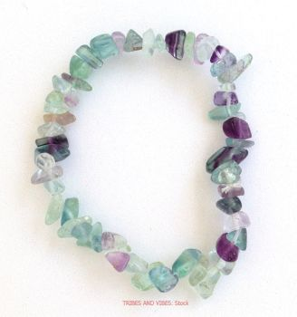 Fluorite (Rainbow) Bracelet Crystal Chips