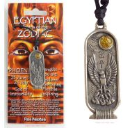 <!--007-->PHOENIX Egyptian Zodiac 25 June to 24 July Necklace