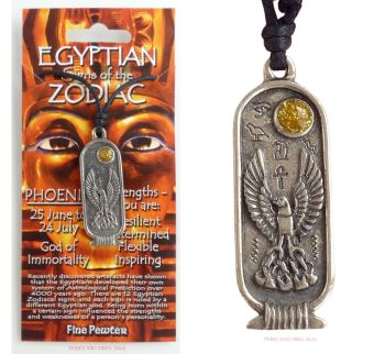PHOENIX Egyptian Zodiac 25 June to 24 July Necklace