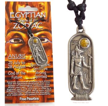 ANUBIS Egyptian Zodiac 25 July to 28 August Necklace