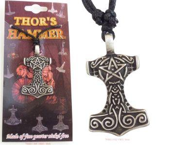 Thors Hammer Pentagram Mjollnir Pendant Necklace