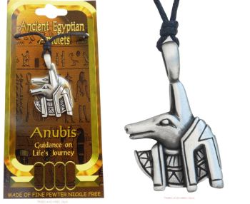 Anubis Egyptian God of the Afterlife Pendant Necklace