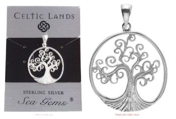 Tree of Life Spirals Pendant Sterling Silver