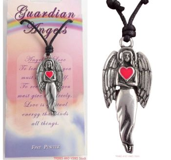 Guardian Angel of Love Pendant Necklace, 48mm