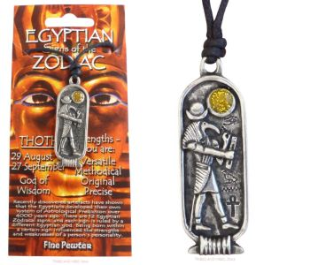 THOTH Egyptian Zodiac 29 August to 27 September Necklace