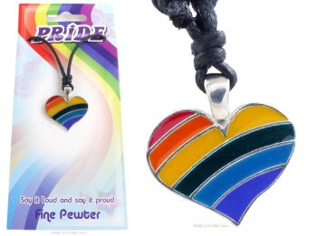 Rainbow Heart LGBTQ Pendant Necklace