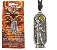 <!--010--> HORUS Egyptian Zodiac 28 September to 27 October Necklace