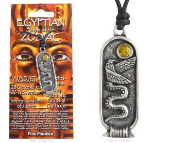 WADJET Egyptian Zodiac 28 October to 26 November Necklace