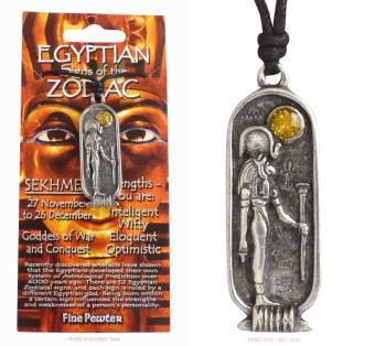 SEKHMET Egyptian Zodiac 27 November to 26 December Necklace
