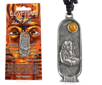SPHINX Egyptian Zodiac 27 December to 25 January Necklace