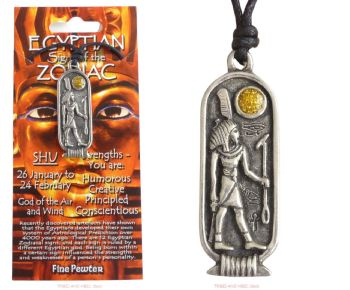 SHU Egyptian Zodiac Pendant Necklace 26 January to 24 February