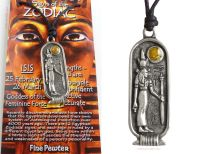 <!--003-->ISIS Egyptian Goddess Zodiac 25 February to 26 March Pendant Necklace
