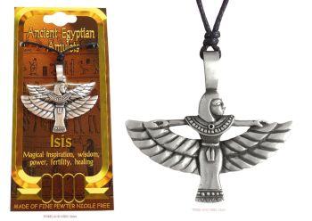 Winged Isis Egyptian Goddess Pendant Necklace