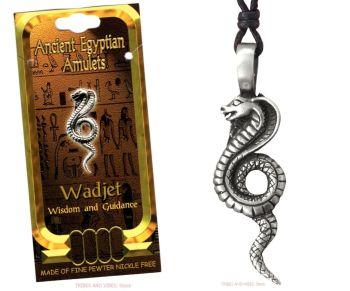 Wadjet Egyptian Cobra Snake Goddess Necklace