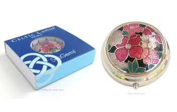 Floral Flowers Pill Box by Sea Gems