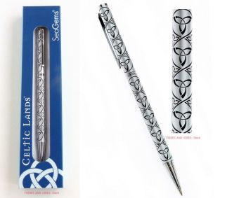 Triquetra Trinity Knot Ballpoint Pen & Gift Box, 130mm