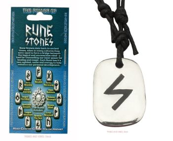 """SOWULO """"The Sun"""" Rune Pendant & adjustable Necklace"""